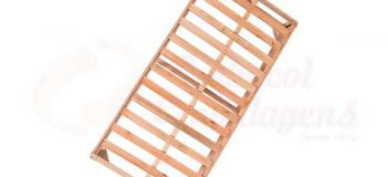 Base box de madeira solteiro