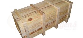 Caixa de madeira para transporte