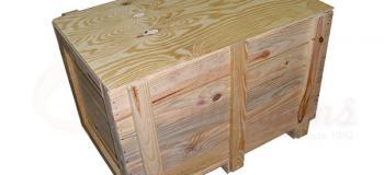 Caixa de transporte em madeira